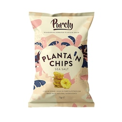 Purely Plantain Chips Sea Salt 75g