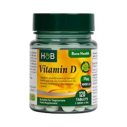 Holland & Barrett Vitamin D3 25ug 120 Tablets