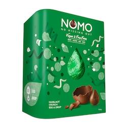 NOMO Vegan Hazelnot Easter Egg & Chocolate Drops 155g