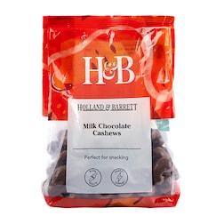 Holland & Barrett Milk Chocolate Cashews 500g