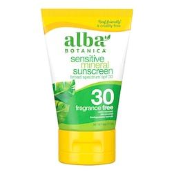 Alba Botanica Sensitive Mineral Fragrance Free SPF 30 Sunscreen 113g
