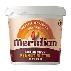 Meridian Natural Crunchy Peanut Butter No Salt 1kg