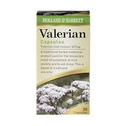 Holland & Barrett Valerian 337mg 30 Capsules