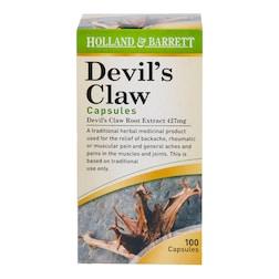 Holland & Barrett Devils Claw 100 Capsules