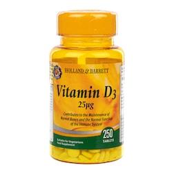 Holland & Barrett Vitamin D3 250 Tablets 25ug