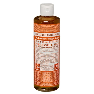 Dr Bronner Tea Tree Liquid Castile Soap