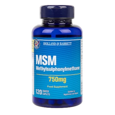 Holland & Barrett MSM Caplets 750mg