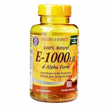 Holland & Barrett Vitamin E Capsules 1000iu