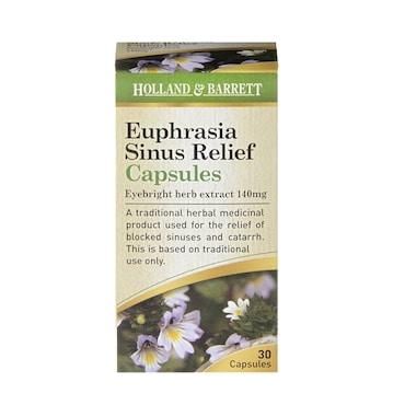 Holland & Barrett Euphrasia Sinus Relief 140mg 30 Capsules
