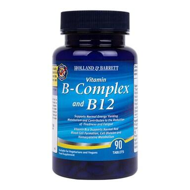 Holland & Barrett B Complex & B12 90 Tablets