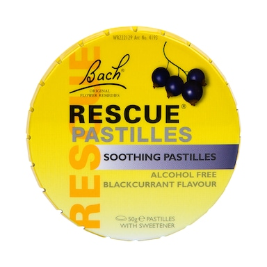 Nelsons Bach Rescue Remedy Blackcurrant Pastilles 50g