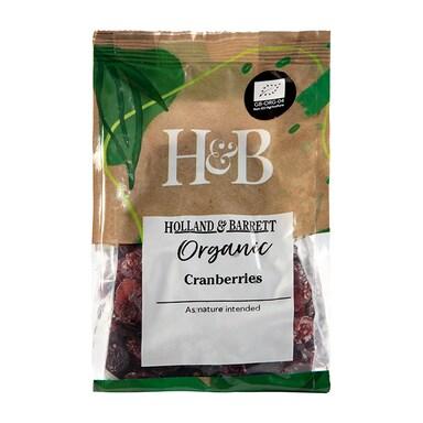 Holland & Barrett Organic Cranberries 225g