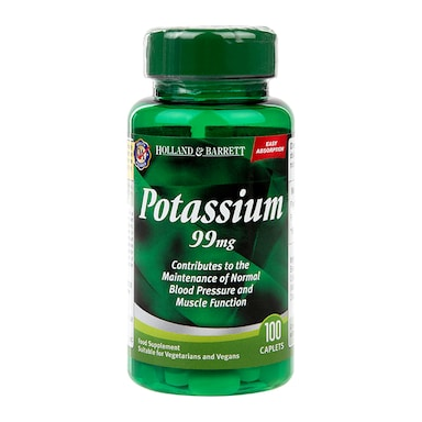 Holland & Barrett Potassium 100 Caplets 99mg