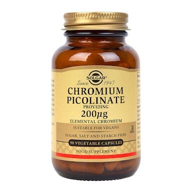 Solgar Chromium Picolinate 200µg 90 Vegi Capsules