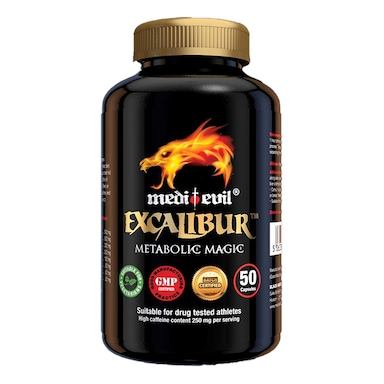 Medi-Evil Excalibur Metabolic Magic 50 Capsules