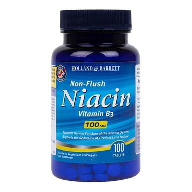 Holland & Barrett Niacin B3 100 Tablets 100mg