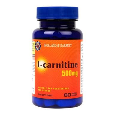 Holland & Barrett l-carnitine 60 Caplets 500mg