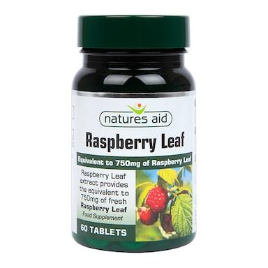 Natures Aid Raspberry Leaf 60 Tablets 750mg