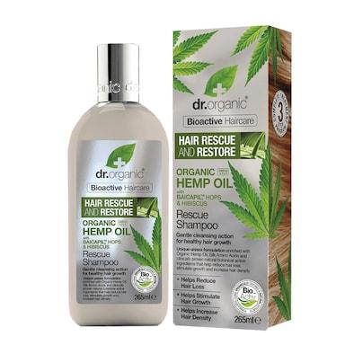 Dr Organic Hemp Oil Rescue & Restore Shampoo 265ml