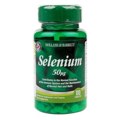 Holland & Barrett Selenium 100 Tablets 50ug
