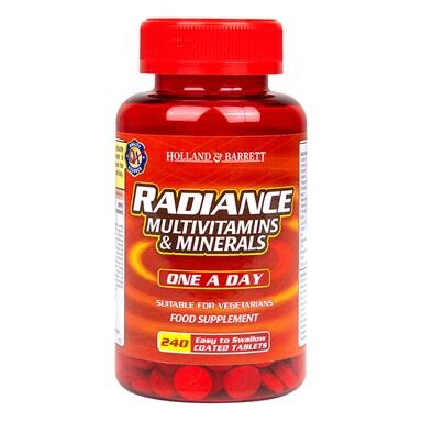 Holland & Barrett Radiance Multi Vitamins & Minerals One a Day 240 Tablets