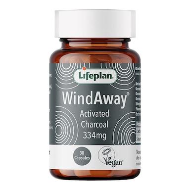 Lifeplan WindAway Activated Charcoal 30 Capsules 334mg