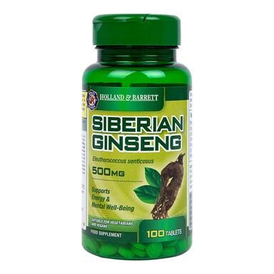 Holland & Barrett Siberian Ginseng 100 Tablets 500mg