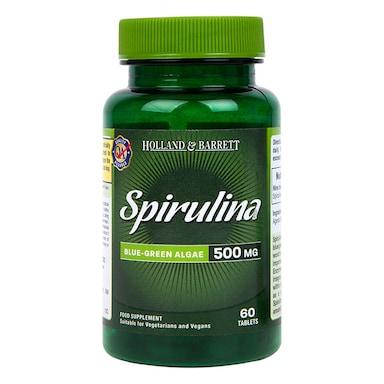 Holland & Barrett Spirulina 60 Tablets 500mg