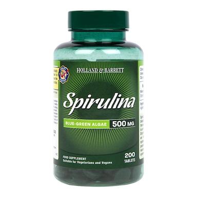 Holland & Barrett Spirulina 200 Tablets 500mg