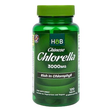Holland & Barrett Chinese Chlorella Rich in Chlorophyll 120 Tablets 500mg