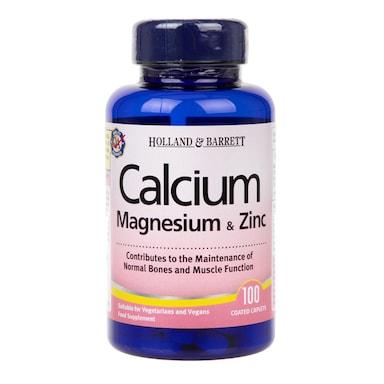 Holland & Barrett Calcium Magnesium & Zinc 100 Caplets