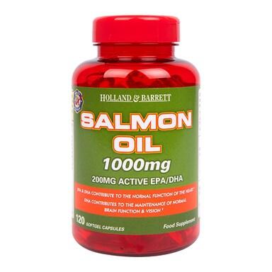 Holland & Barrett Salmon Oil 120 Capsules 1000mg