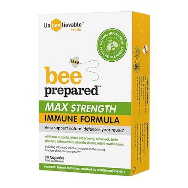 Unbeelievable Health Bee Prepared Max Strength 20 Capsules