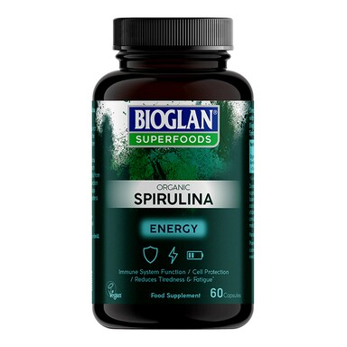 Bioglan Superfoods Organic Spirulina 60 Capsules
