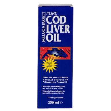 Holland & Barrett Cod Liver Oil Pure Liquid 250ml