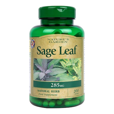 Natures Garden Sage Leaf 200 Capsules 285mg