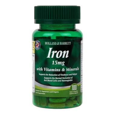 Holland & Barrett Iron 15mg with Vitamins & Minerals 100 Caplets