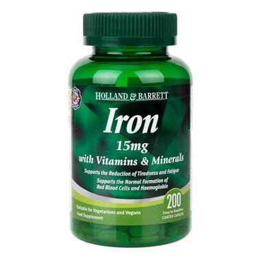 Holland & Barrett Iron 15mg with Vitamins & Minerals 200 Caplets