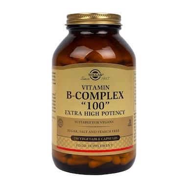 Solgar Vitamin B-Complex 100 Extra High Potency 250 Vegi Capsules