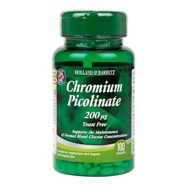 Holland & Barrett Chromium Picolinate 100 Tablets 200ug