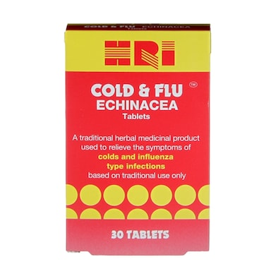 HRI Cold & Flu Echinacea 30 Tablets