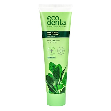 Ecodenta Whitening Toothpaste with Mint Oil, Sage Extract and Kalident 100ml