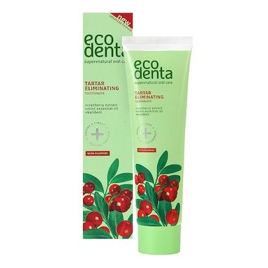 Ecodenta 2-in-1 Refreshing Anti-Tartar Toothpaste with Cranberry Extract & Kalident 100ml