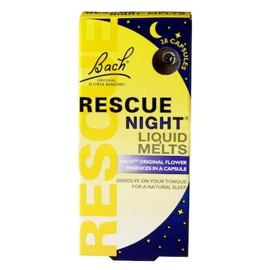 Bach Original Flower Remedies Rescue Night Liquid Melts 28 Capsules