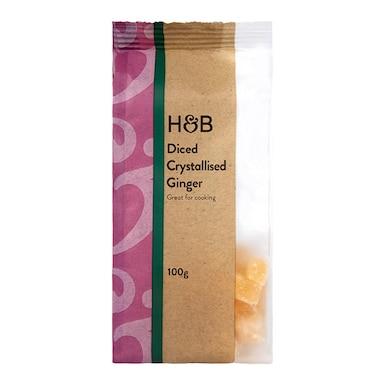 Holland & Barrett Diced Crystallised Ginger 100g