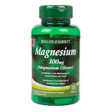 Holland & Barrett Magnesium Citrate 100mg 100 Tablets
