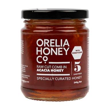 Orelia Honey Co. Raw Cut Comb in Acacia Honey 340g