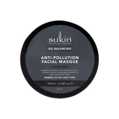 Sukin Oil Balancing + Charcoal Anti-Pollution Facial Masque 50ml
