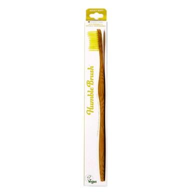 Humble Brush Adults Soft Bristle Toothbrush Yellow