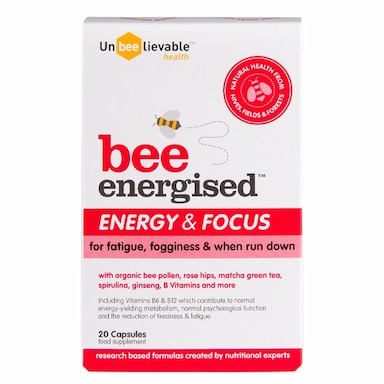 Unbeelievable Health Bee Energised Energy and Focus 20 Capsules